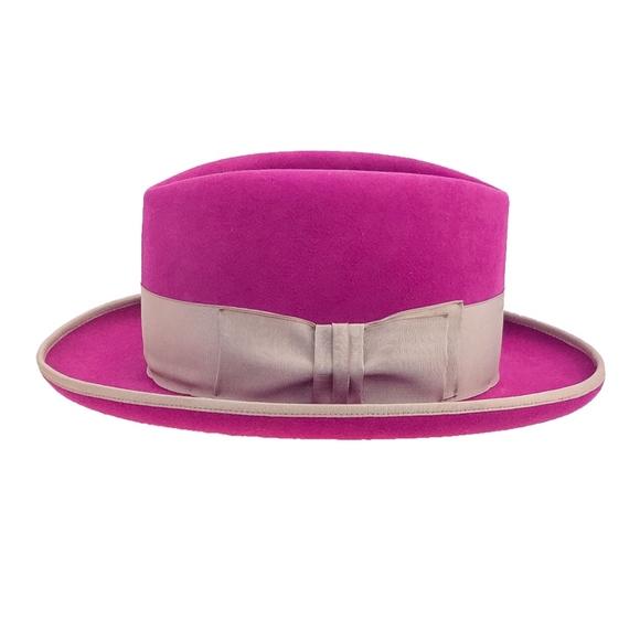 8127feb041d O Farrell Magenta Custom Boho Beaver Fedora Hat